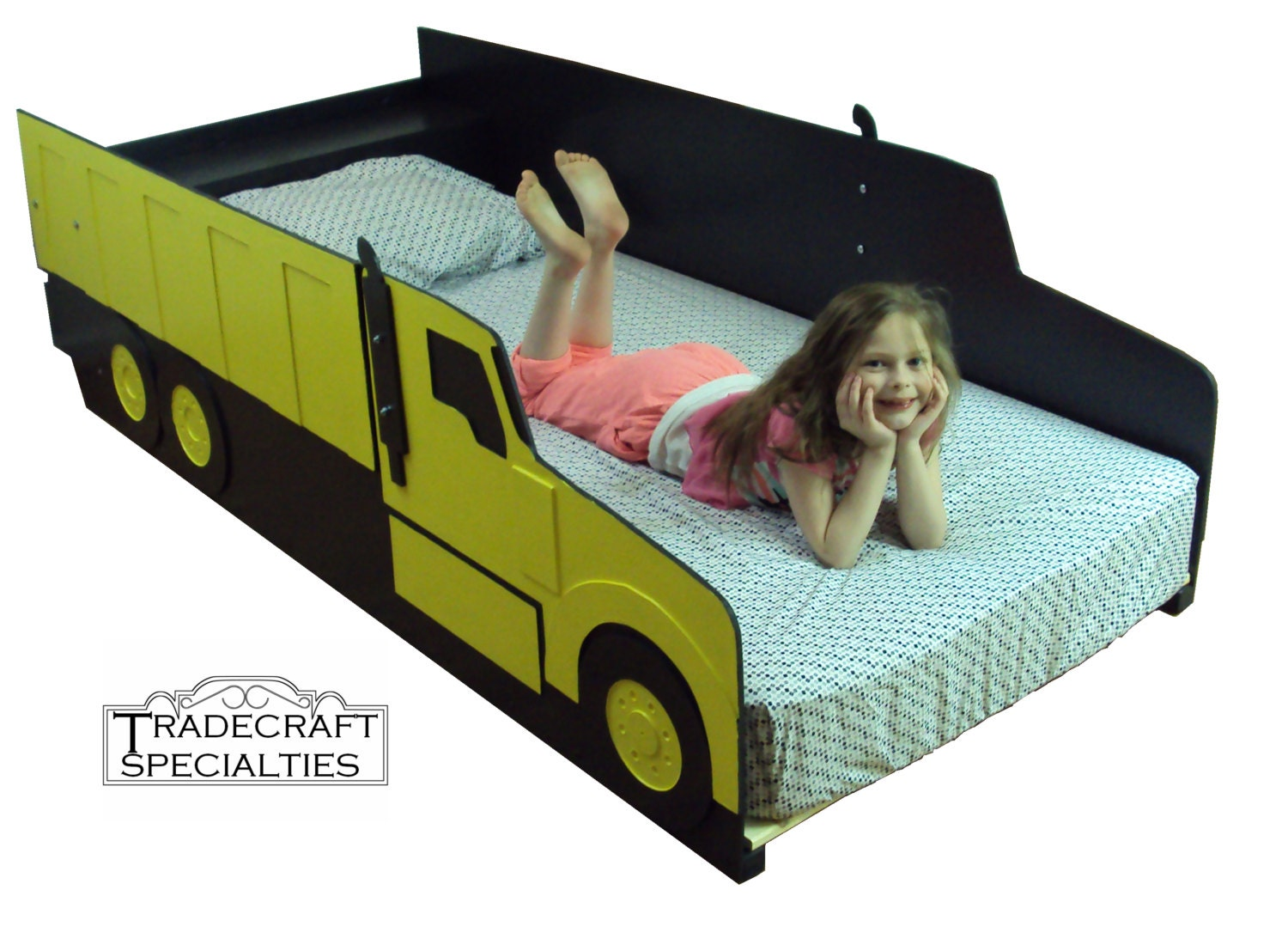 Dump Truck Toddler Bed : Dump truck twin kids bed frame handcrafted by tradecraftspec