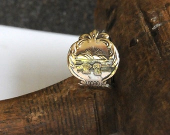 ohio ring, american ring, spoon ring, state of ohio ring