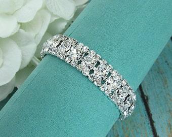 Rhinestone Bridal bracelet, wedding bracelet, rhinestone crystal bracelet, crystal bracelet, bridal jewelry, wedding accessories, 210189980
