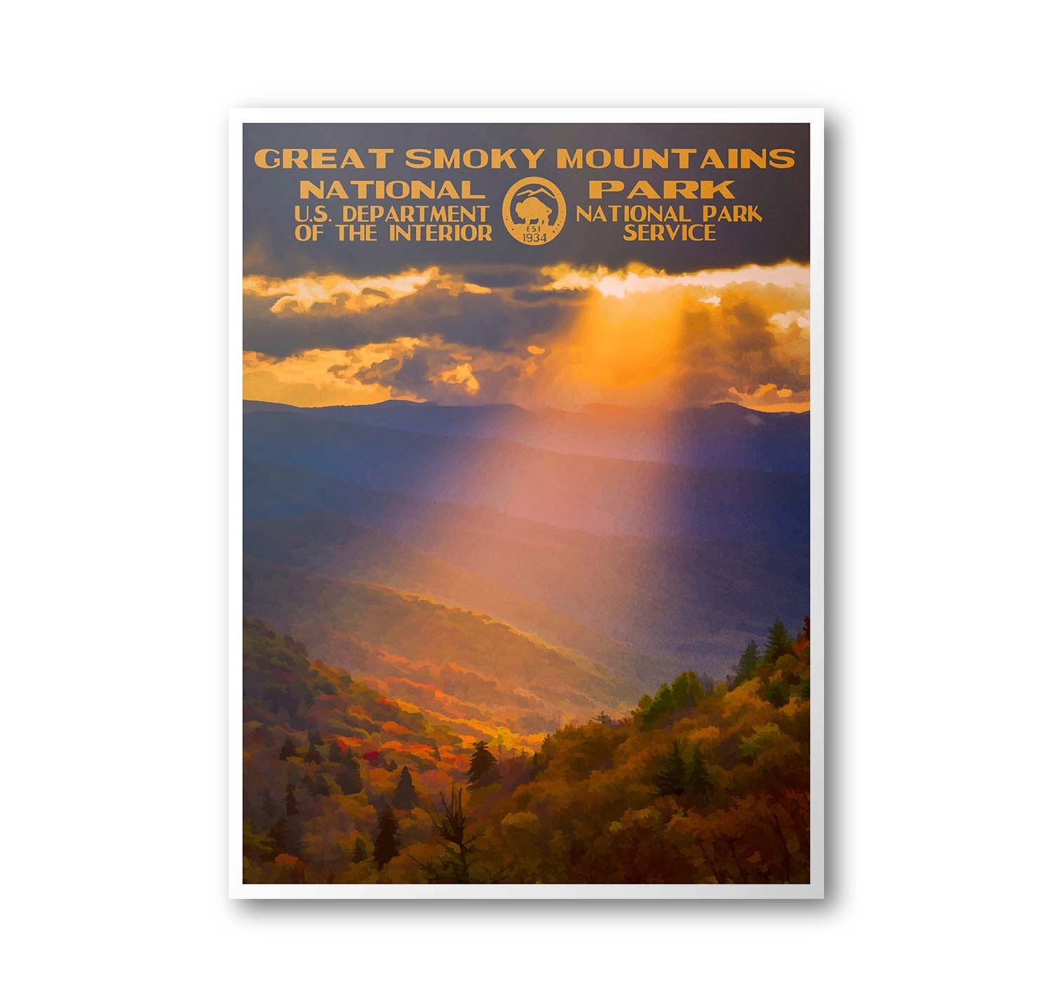 Travel To National Parks Poster