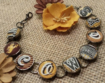 Wyoming Cowboys Bracelet - officially licensed University of Wyoming Product