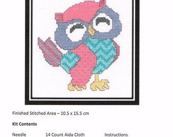 Patchwork Owl Cross Stitch Kit