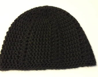 Handmade crochet beanie Black