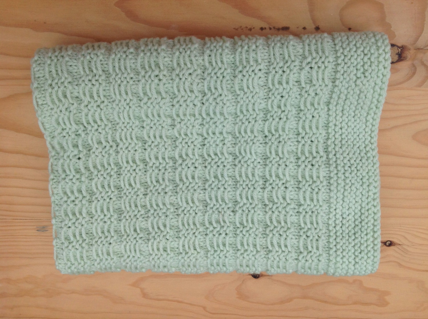 Slip Stitch Knitting Baby Blanket Pattern : Slip stitch baby blanket knee rug merino wool. Hand knit.