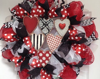 Valentines Day Deco Mesh Wreath I Love You This Much