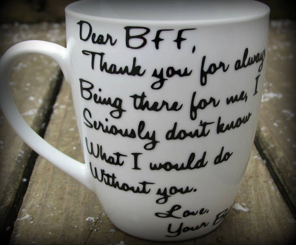 personalized best friend mug dear bff mug thank you gift