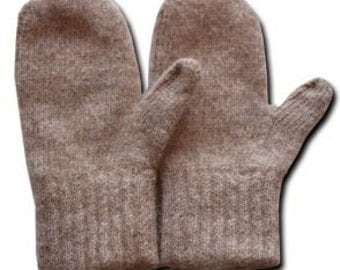 Warm Alpaca Mittens for Adults - Made by Our Local Fiber Cooperative. Terrific for winter for men & women!  Gift idea for Birthdays!