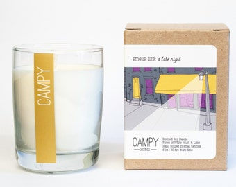 Soy Candle: A Late Night (White Musk & Lime)