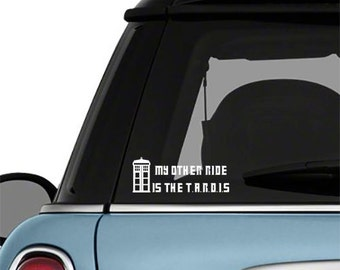 Dr Who Car Decal My Other Ride TARDIS Wall Vinyl