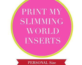 Items similar to filofax a5 size printed inserts of Slimming world my account