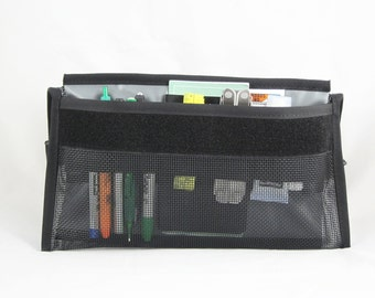 OCD Organizational Panel, Everyday Carry, EDC, Organizer, Vegan, Elastic, Gym Bag Organizer, Glove Compartment Organizer, Desk Organizer