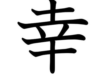 Happy, Happiness - Kanji/Japanese Symbol - Car/Laptop/Truck/Phone/Computer/Home Decal
