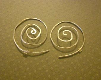Sterling Silver Swirling Hoop Earring