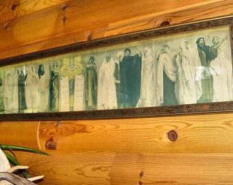 """John Singer Sargent ~ Study for """"Frieze of Prophets"""" Rare vintage print in Original Frame"""