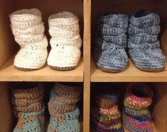 Baby Booties Slouch Style