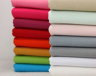 43 inch Width Half Yard, 20 oz Special Thick Cotton Canvas Fabric, Solid Fabric Sofa Fabric Bags Fabric