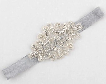 Flower Girl Headband, Rhinestone Headband, Rhinestone Baby Headband, Baby Headband, Flower Girl