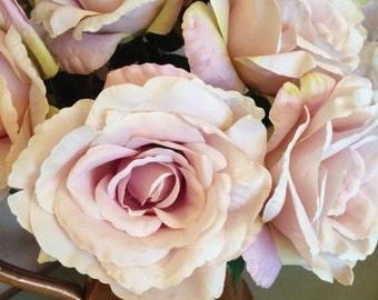 Vintage Purple Artificial English Garden Roses
