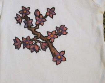 Blossoms; 0-3 month Onesie Original Design