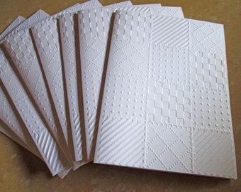 Quilt Embossed Cards, Quilted Greeting Cards, Note Cards, Blank Notecards, Stationery, Thank You Cards, Note Card Set, Embossed Notecards