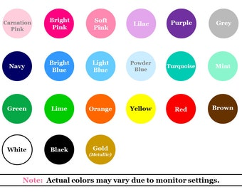 Color Swatches - 6 color swatches