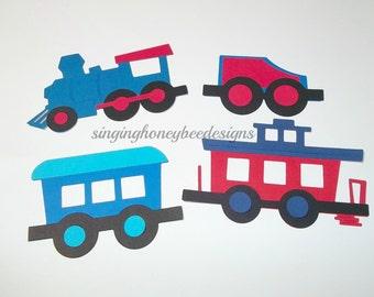 choo choo train diecut, train diecut, train cutout, choo choo train embellishment, DIY train party, train birthday, train baby shower