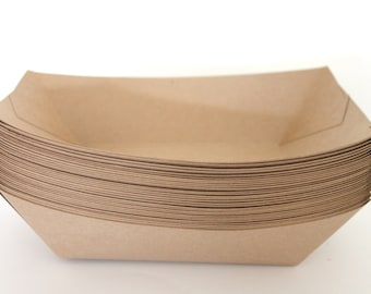 "On Sale 25 Extra large 3 lb. Kraft Paper Food Tray Party  Birthday and more ""Same Day Shipping"""