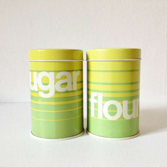 vintage flour and sugar canister shakers 1970s gt by goodsgarb