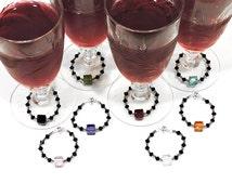 Wedding Bride Groom Table Favors Stemware Decor Swarovski Crystal Magnet top selling shop Beautiful Wine Serving Qty:8 Winecharmersandmore