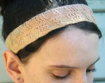 Silk Knit Hand Dyed Zigzag Ombre Headband