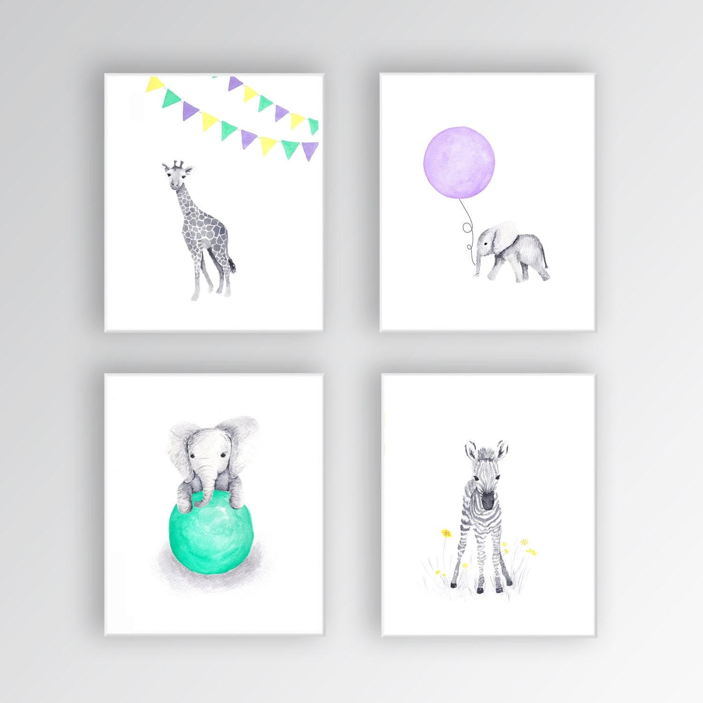 zebra canvas art baby girl nursery art animal watercolor. Black Bedroom Furniture Sets. Home Design Ideas