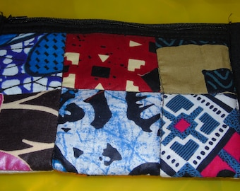 African Print Pouch with zipper