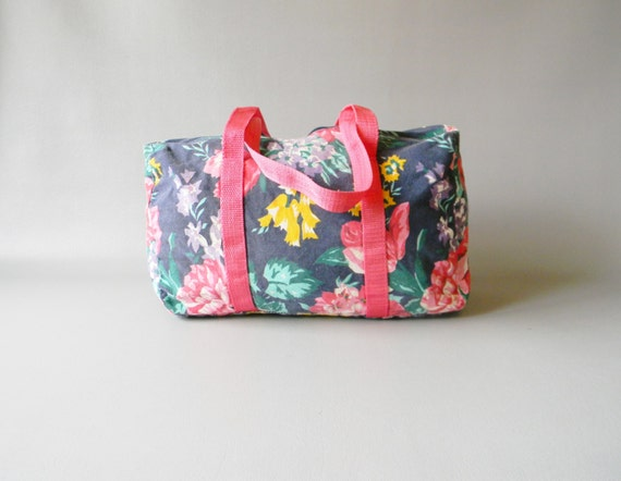 Small Vintage Floral Duffle Bag By DaisyFieldVintage On Etsy