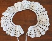 HANDMADE Crocheted Collar. Peter Pan Collar. White Collar. Lace Collar.