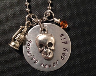 The Goonies 'Never Say Die' Inspired Handmade Necklace