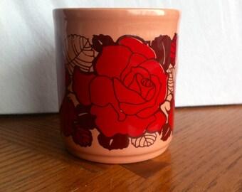 Vintage Pink & Red Rose English Mug