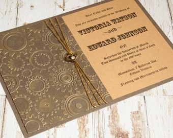 steampunk wedding invitations items similar to printable steampunk wedding set see 7696
