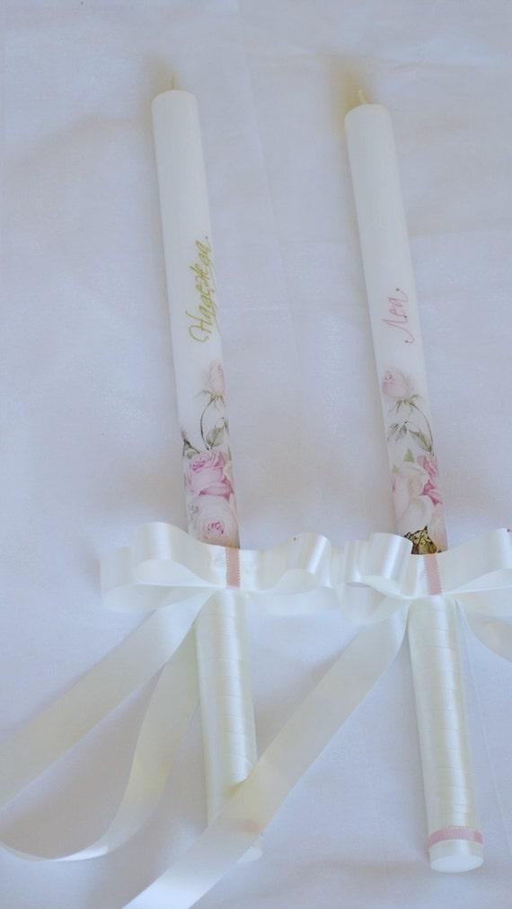 items similar to luxury baby christening candles  personalized candles  christening candle
