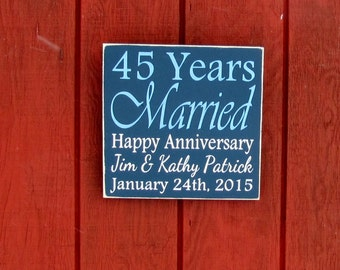 Anniversary Wood SIgn Personalized Wooden Anniversary Gift Wall Art Photo Prop