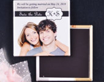 Wedding solid photo magnet button