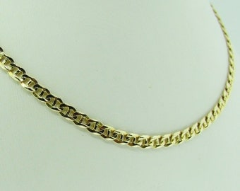 "Made in Italy. 14 K anchor chain. 19"" long."
