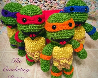 Free Crochet Teenage Mutant Ninja Turtle Pattern : Items similar to A Teenage Turtle Crochet PATTERN INSTANT ...