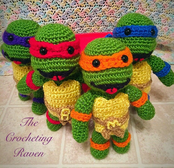 Crochet Ninja Turtle : TMNT Teenage Mutant Ninja Turtle Crochet by TheCrochetingRaven