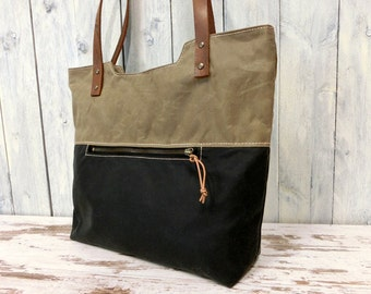 Tote Bag waxed cotton