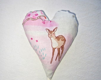 Lavender Heart Sachet with Fawn