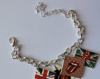 Rolling Stones Novelty Charm Bracelet
