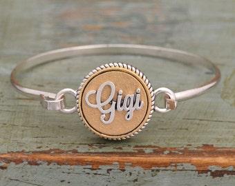 Two Tone Gigi Bangle Bracelet