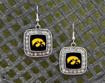 Iowa Hawkeyes Square Earrings