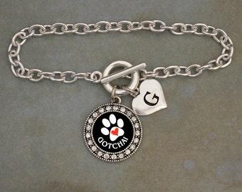 Custom Initial Gotcha Pet Adoption Bracelet