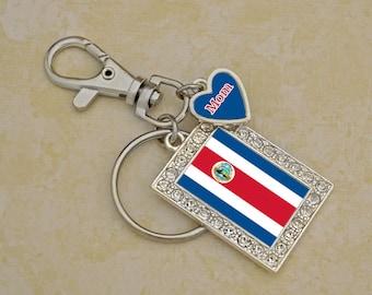 Custom Family Costa Rica Keychain - FLAGCR54591